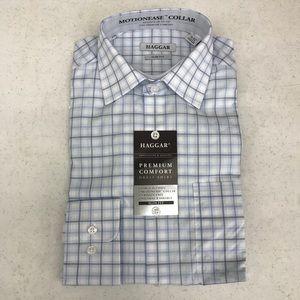 Men's Haggar premium comfort dress shirt slim fit